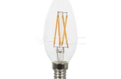lampadina a filamento led E14 candela