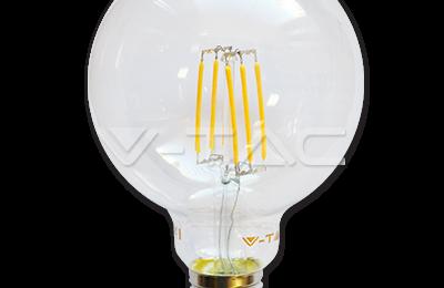 Lampadina E27 a filamento led globo